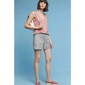 NWT Anthropologie Level 99 Linen Blend Shorts 26